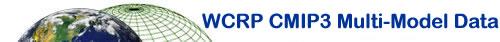 WCRP CMIP3 multi-model data project logo