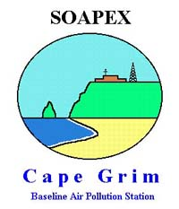 Southern Ocean Atmospheric Photochemistry Experiment (SOAPEX) Logo